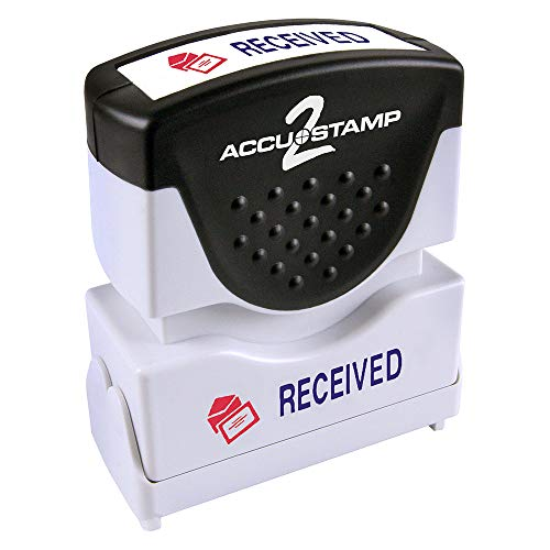 ACCU-STAMP2 Message Stamp with Shutter, 2-Color, RECEIVED, 1-5/8