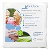 DINICLEAN Hygiene Soaped Sponge, No Rinse Wipes and Loves for Personal Care - Pack of 12