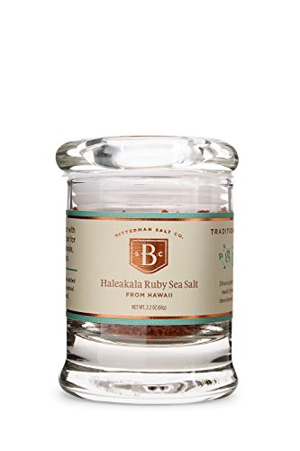 Bitterman's Haleakala Ruby Hawaiian Sea Salt - Small Jar (Ruby Red Salt)