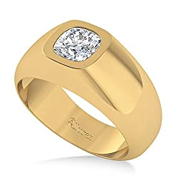 14k Gold (1.00ct) Men's Diamond Gypsy Ring