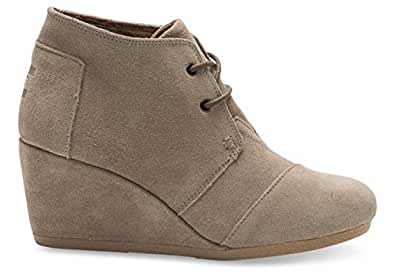 TOMS Womens Desert Wedges Boot (37-38 M EU / 7 B(M) US, (Taupe))