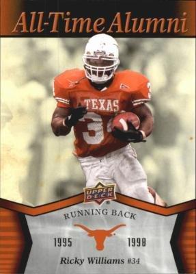 Ricky Williams football card (Texas Longhorns) 2011 Upper Deck All Time Alumni #ATA-WI (Ricky Williams Football)