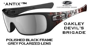 2142847d6c Oakley® Special Edition Devil s Brigade Sunglasses Model -  ANTIX  - Polished  Black Frame