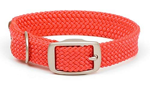Mendota Products ME31001 Pet Double Braid Dog Collar, 1 x 18, Red
