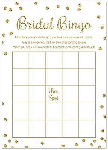 Amazon.com: 24 Cnt Bridal Shower Bingo Cards (Faux Gold Glitter on Pink)