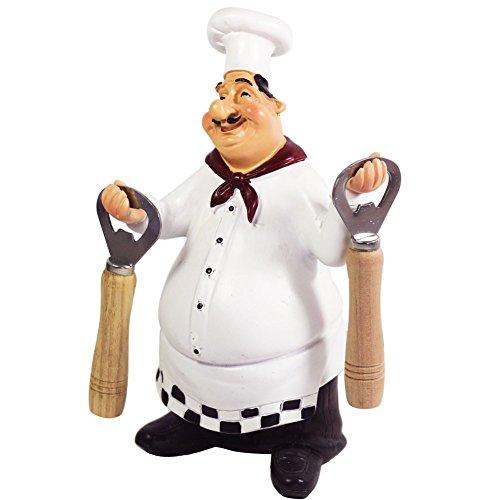 KiaoTime 98917PJ Italian Chef Figurines Kitchen Decor With