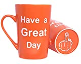 This Might be Wine Funny Coffee Mug, Have a Great Day Funny Ceramic Cup Orange, Office and Birthday Gag Gifts, 12 Oz