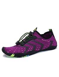 MAYZERO Water Shoes Men Women Beach Swim Shoes Barefoot Quick Dry Aqua Skin Socks Drainage Holes Pool Shoes