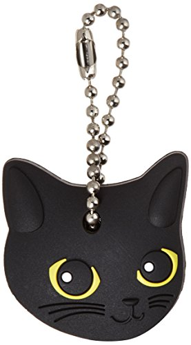 (Field Point Key Cover/Key Caps/Key Holder/Keycaps - Cute Animal Pet Faces (Black Cat))