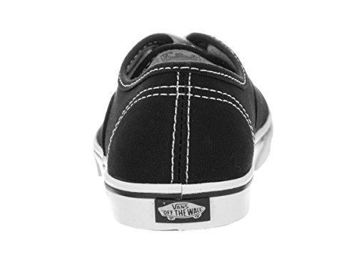 Vans K AUTHENTIC LO PRO, Baskets Mode Mädchen Schwarz / Weiß