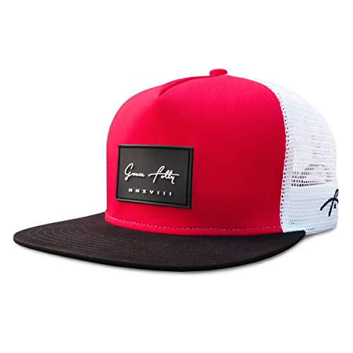 (Grace Folly Trucker Hat for Men & Women. Snapback Mesh Caps (One Size, Red & Black))