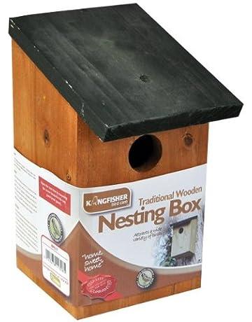 Kingfisher bf017 Pájaro De Madera Caja Nido - Negro