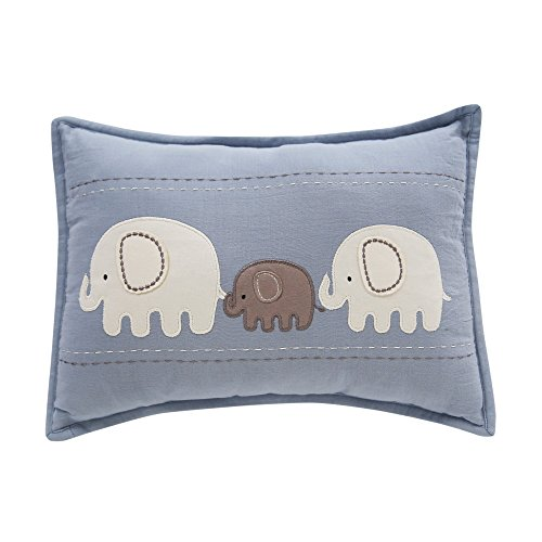 Lambs & Ivy Signature Elephant Tales Decorative Nursery Pillow