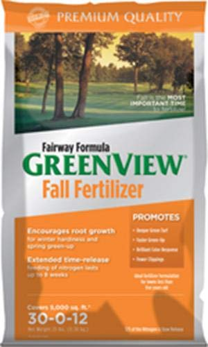 GreenView Fairway Formula Fall Lawn Fertilizer, 25 lb bag, Covers 5,000 Sq. Ft