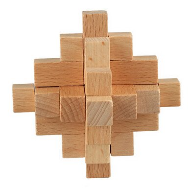 Rupum Tm Classic Burr Puzzle 15 Piece Wooden Interlocking Brain