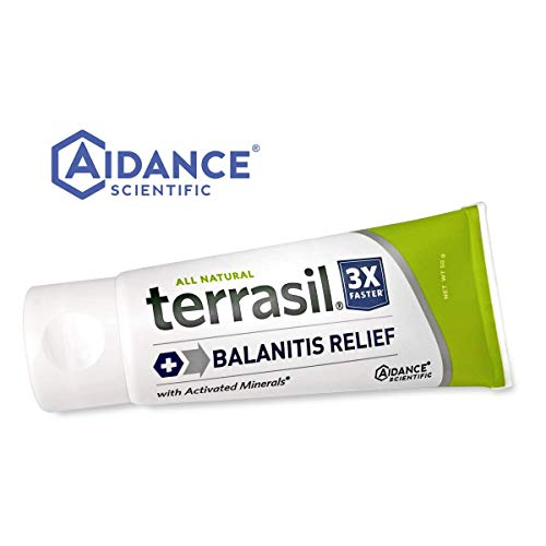 Terrasil® Balanitis Relief - 100% Guaranteed, Patented All-natural, gentle, soothing skin relief ointment for relief from irritation, itch, redness and inflammation, Balanitis symptoms (50 gram tube)