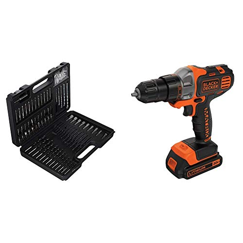 BLACK+DECKER BDA91109 Combination Accessory Set, 109-Piece with BLACK+DECKER BDCDMT120C 20-Volt MAX Lithium-Ion Matrix Drill/Driver