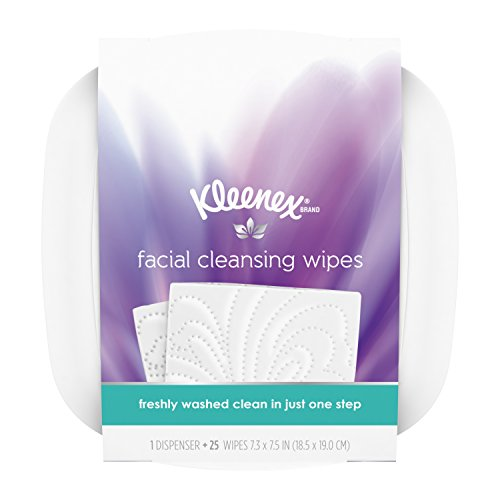 Refill Makeup - Kleenex Facial Cleansing & Makeup Remover Wipes with Dispenser, 25 Wet Wipes