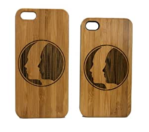 Gemini Zodiac iPhone 4 4S Case. Astrology Twin Astrological Sign. June Birthday. Eco-Friendly Bamboo Wood Cover Skin.