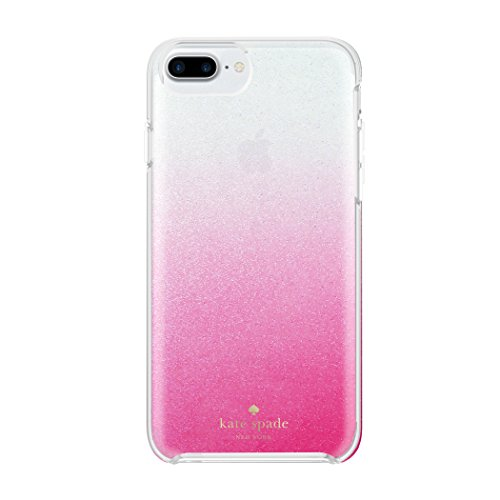 kate spade new york Protective Hardshell Case for iPhone 7 Plus - Pink Ombre / Silver Glitter