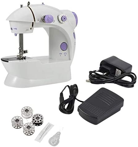 Mini máquina de coser eléctrica multifuncional, escritorio del ...