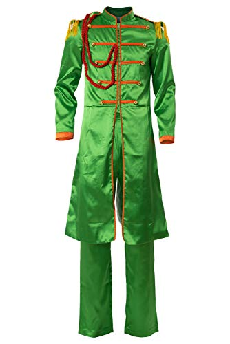 Cosplaysky The Beatles Costume SGT.Pepper's Lonely Hearts Club John Lennon Cosplay Medium Green