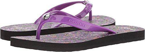 Coach Women's Flip-Flop Black/Purple Floral Rubber 9 M US -