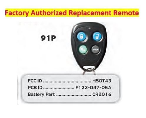 Code Alarm CATXMLSS 5-Button 2-Way LCD Paging Replacement Transmitter Remote 915MHz FCC H50TR38 H5OTR38 Audiovox