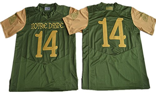 Notre Dame 14 2016 Shamrock Series Premier College Football Jersey Olive Green S