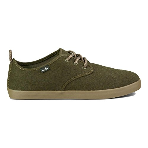 Sanuk Mens Guide TX Shoe Dark Olive Wool