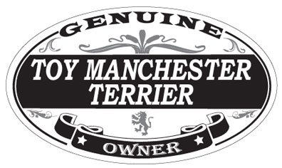 Toy Manchester Terrier Oval Magnet