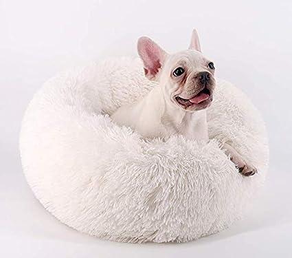 T-MIX Cama para Mascotas, Plush Donut Cama de Mascotas Nido colchón, para Gatos y Perros pequeños y medianos, Alivio de Las articulaciones y sueño Mejorado ...