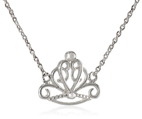 Disney Princess Sterling Silver Crown Necklace