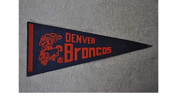 buy online 0a7a4 b16e9 Amazon.com: Vintage Denver Broncos Mini Pennant With ...