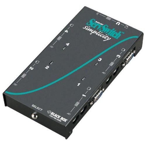 Black Box 4-Port Desktop KVM Switch VGA PS/2