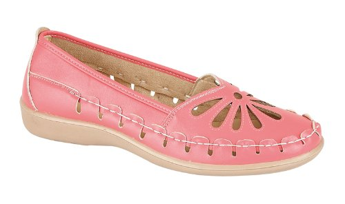 LD Outlet - brogue mujer Hot Pink