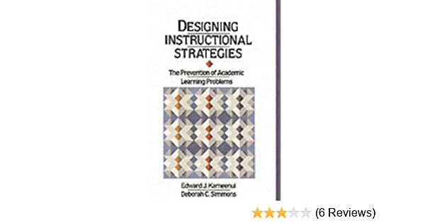 Designing Instructional Strategies The Prevention Of Academic