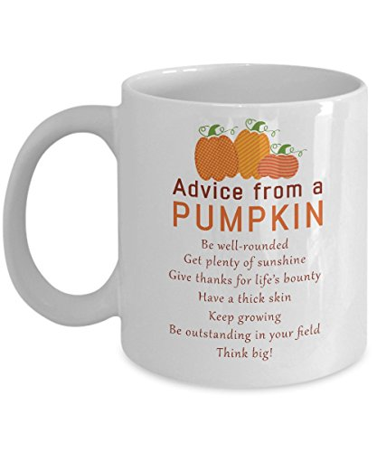 Autumn Mug Advice from a Pumpkin Funny Humor
