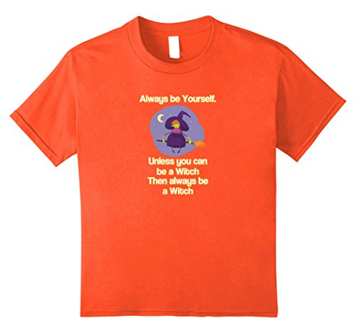Kids Cheap Witch Halloween Funny Costume Idea T-Shirt  12 Orange (Witch Costume Ideas Adults)