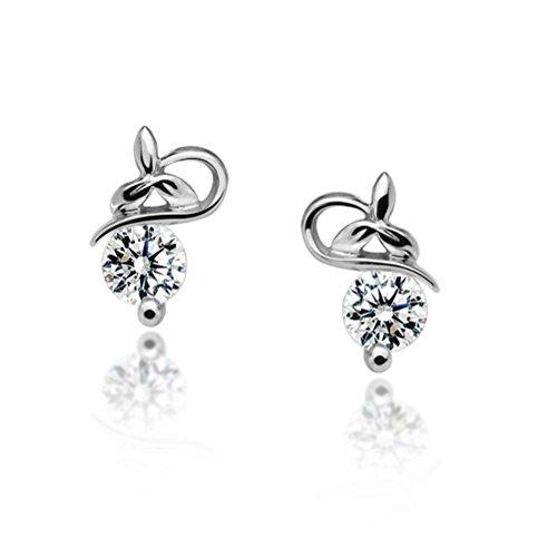 Erica Coréens argent sterling 925 boucles d'oreille / Mode Boucles d'oreilles simples Bijoux / Boucles d'oreilles Zircon