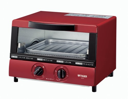 TIGER Toaster oven Fresh made 1000W Red KAJ-A100-R (Cosplay Shop Online)