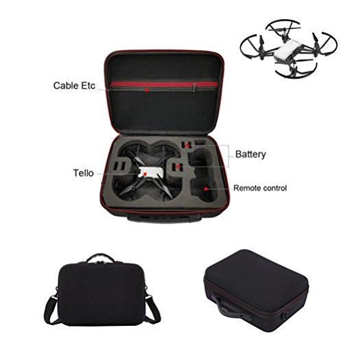DJI drone suitcase. 1680D For DJI TELLO UAV Shoulder Bag Cover EVA Interior Waterproof (Black) by Drone_Tello