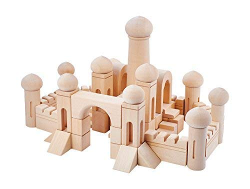 97 Wooden Building Blocks for Toddlers-Learning Wood Set. All Wooden Toys Hand Crafted Not in China. Building blocks for Kids, Children Designed with Purpose fit age 3-7.