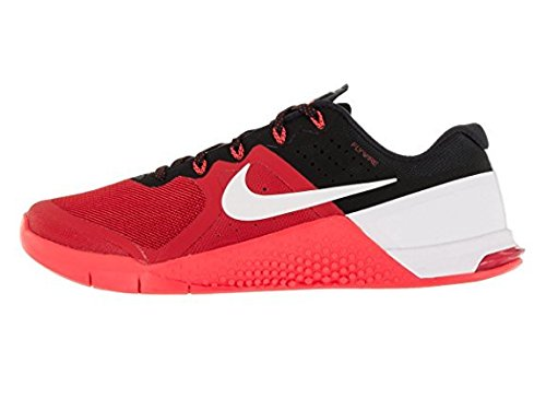 Nike Mens Metcon 2 Synthetic Umvrsty Rd/Wht/Brght Crmsn/Blc Trainers - 11.5 D(M) (Drew Mens Athletic Shoe)
