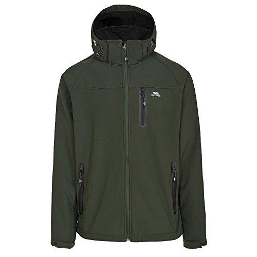 Trespass Mens Accelerator II Softshell Olive (Mens Accelerator Soft Shell Jacket)