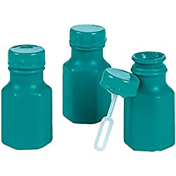 48 Mini Hexagon Teal Bubble Bottles