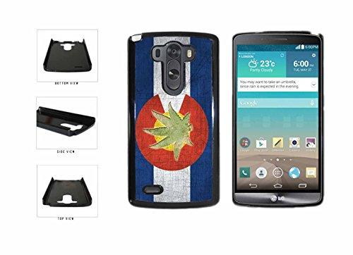 Vintage Colorado Flag With Marijuana Leaf Plastic Phone Case Back Cover LG G3