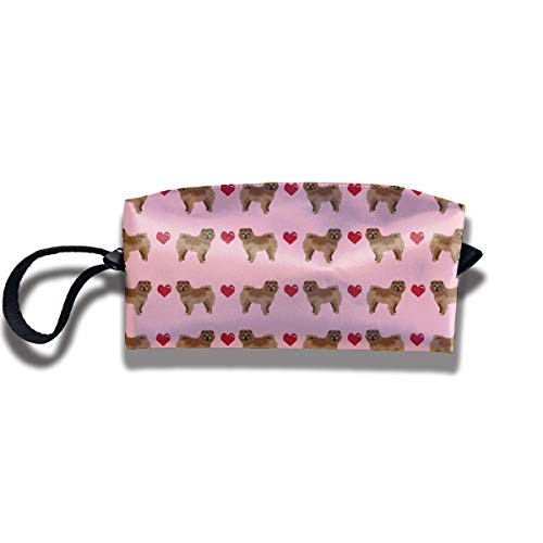 Yitlon8 Chow Love Hearts Dog Coin Pouch Pen Holder Clutch Wristlet Wallets Purse Portable Storage Case Cosmetic Bags Zipper