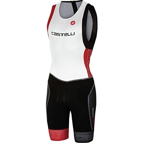 Castelli Free Tri ITU Suit - Men's White/Red, - Itu Suit Tri