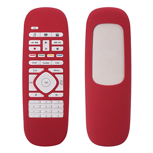For Logitech Harmony Smart Cover, Lightweight Anti- Dust and Anti-Drop Silicone Protective Case for Logitech Harmony Smart Remote Control--Red